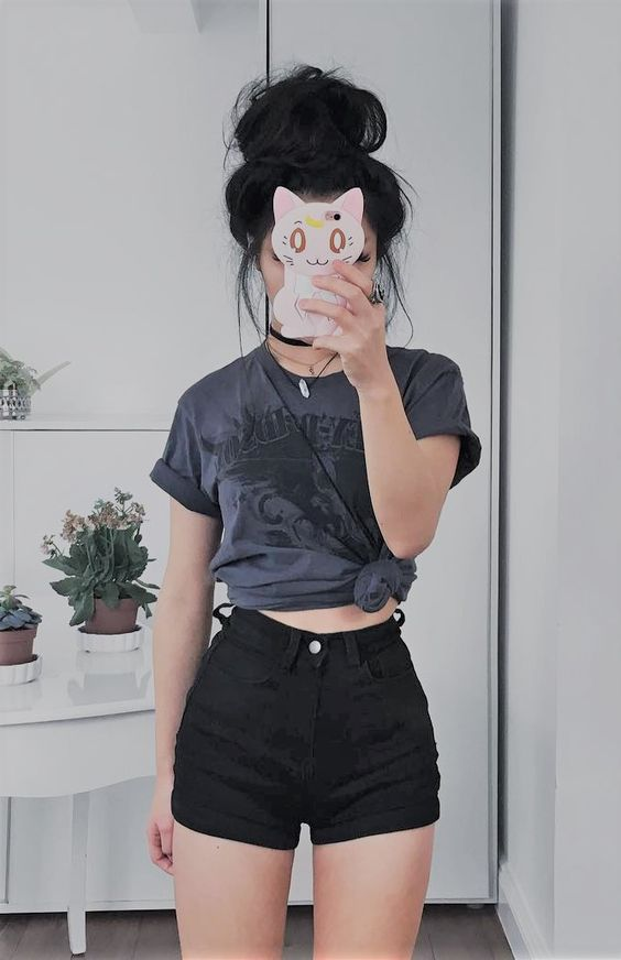 Fotos tumblr usando short jeans crescendo aos poucos Outfits for short hair pinterest