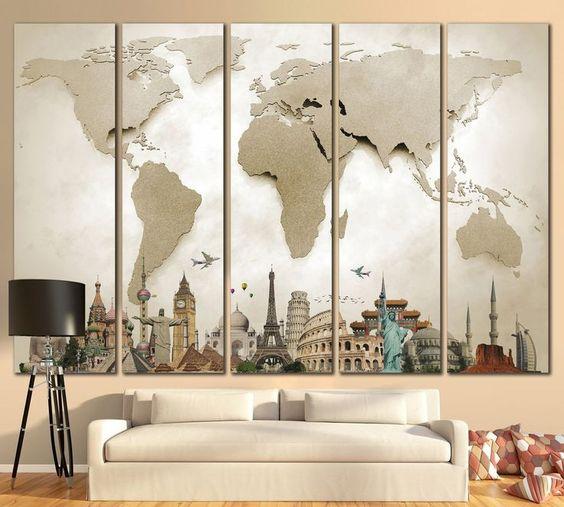 decoração-com-mapa