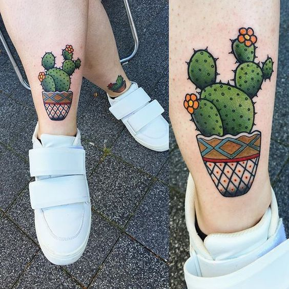 tatuagem tattoo cactos e suculentas