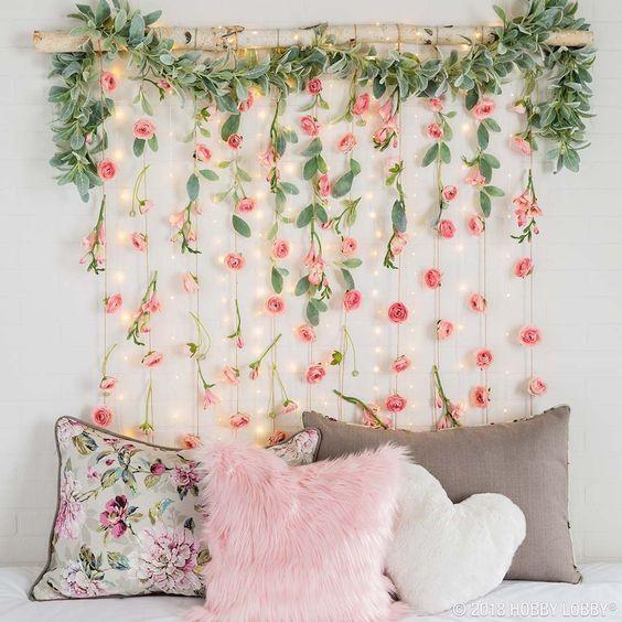 decoração-flores-parede
