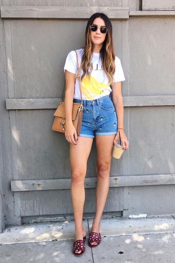 Short jeans look