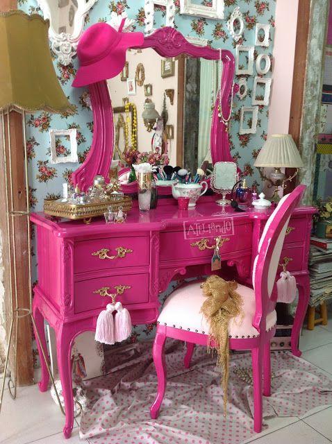 penteadeira rustica pink #decoration #decoração