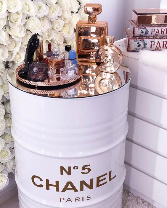 decoração usando barril