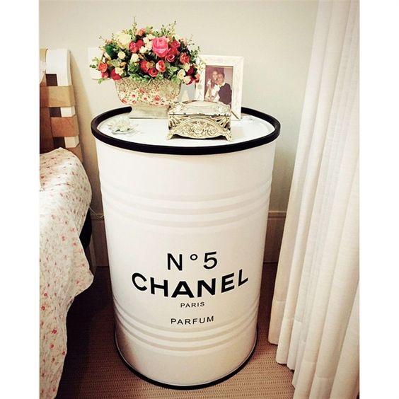 como usar barril na decoração quarto