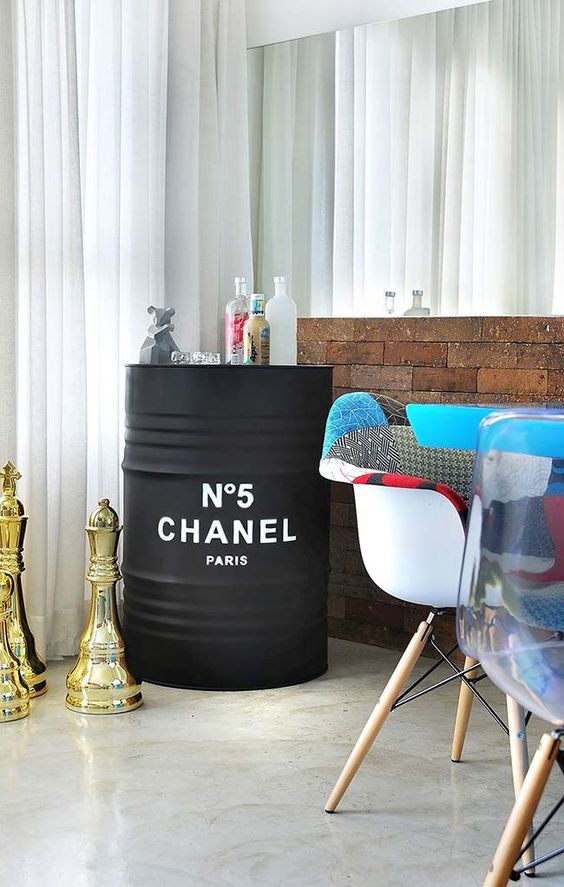 decoração como barril