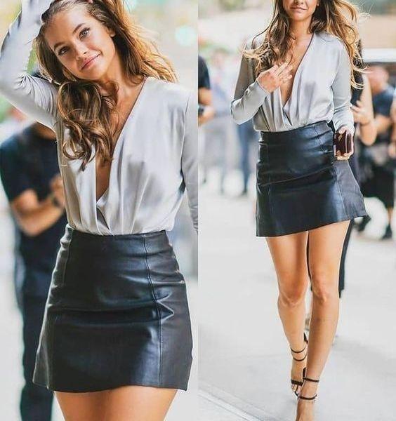como usar saia de couro