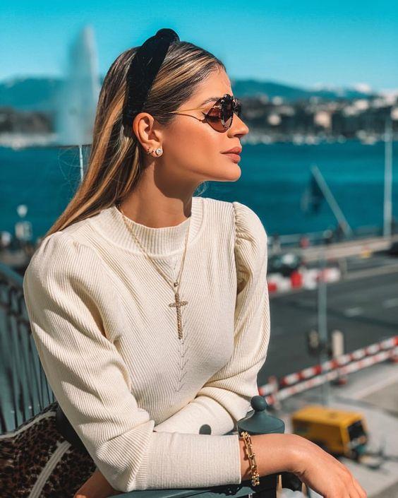 A blogueira Thássia Naves super aderiu a moda.