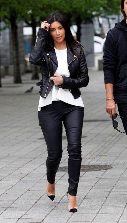 look black & white kim kardashian