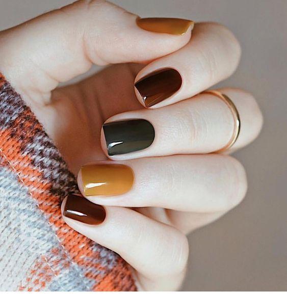 unhas coloridas moda