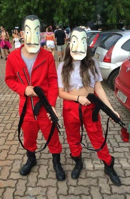 fantasia criativa de casal carnaval
