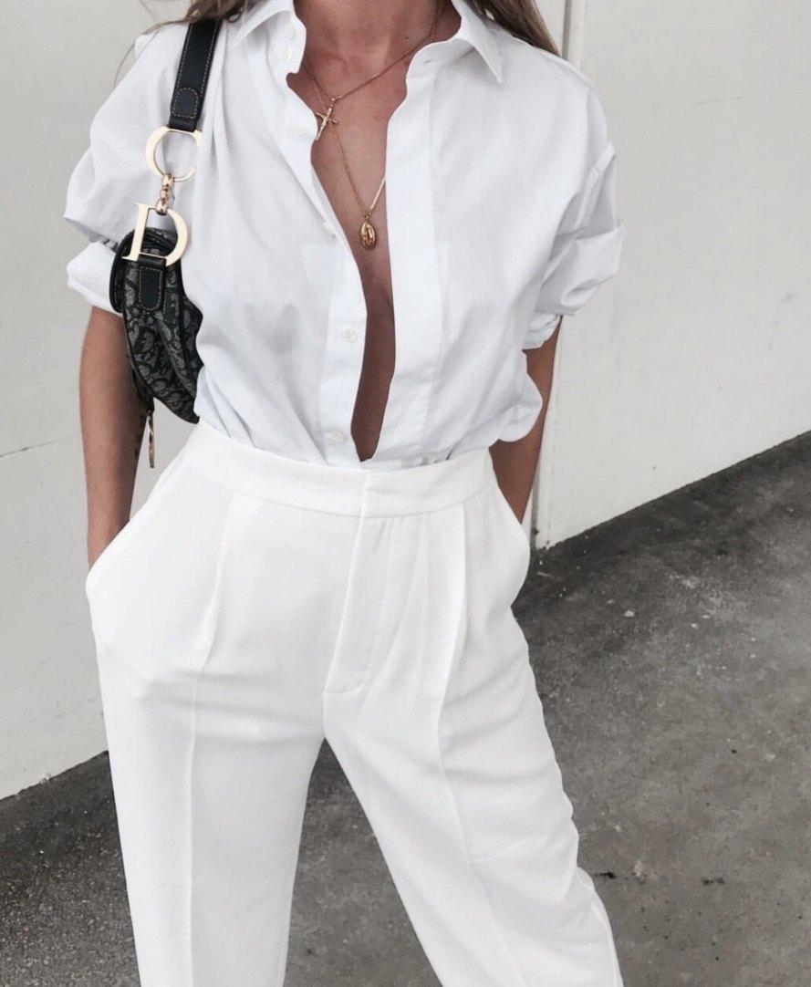 como usar camisa branca feminina