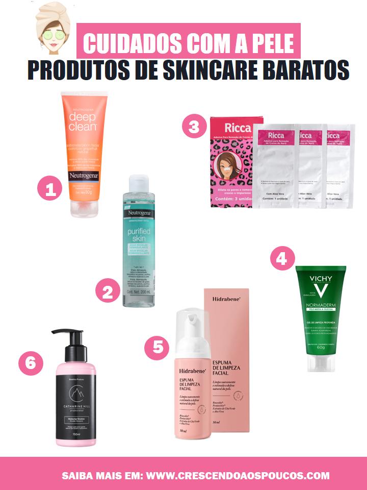 produtos de skincare baratos
