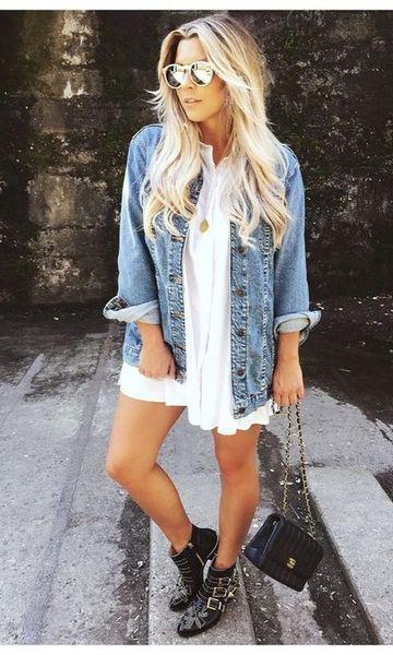 look com jaqueta jeans