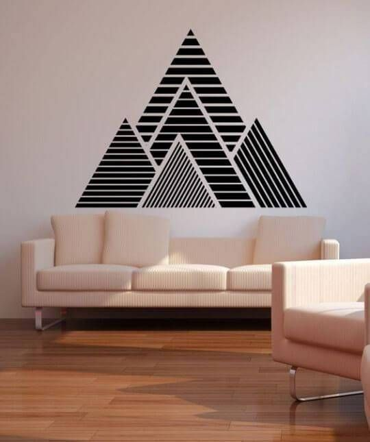 pintura parede triangular