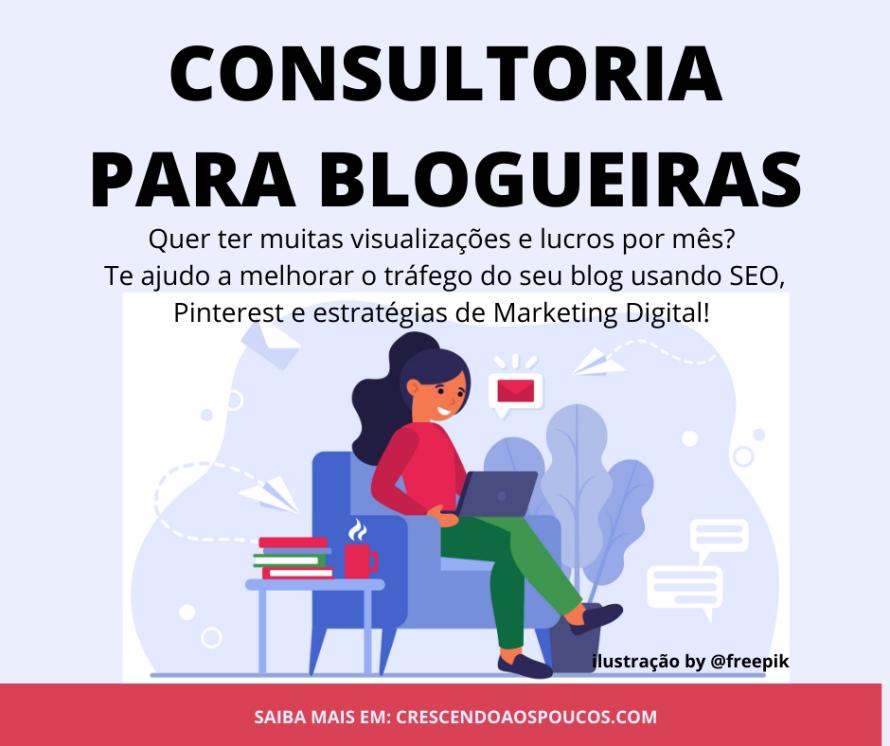 consultoria para blogueiras